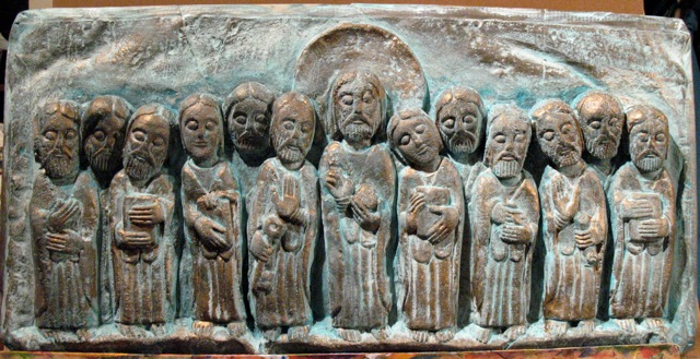 Jesus With Disciples in Patina